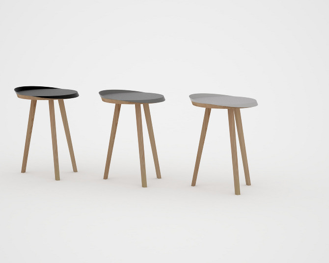 Side table stool by ernest co sofiliumm - Petite table appoint ...