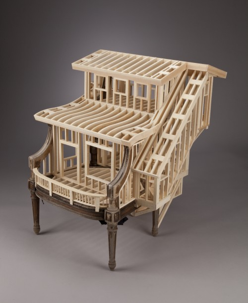 Artist/woodworker Ted Lott Crafts Works That Play On The Notion Of  Architectonic Furniture U2013 A Somewhat Populace Term Used To Describe  High End Fixtures And ...