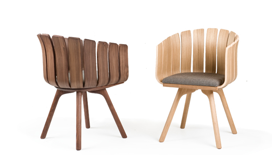 Japanese Design Studio Leif.designpark Have Created The Flower Cup Chair  For Portuguese Furniture Brand De La Espada. Made From Moulded Plywood, ...