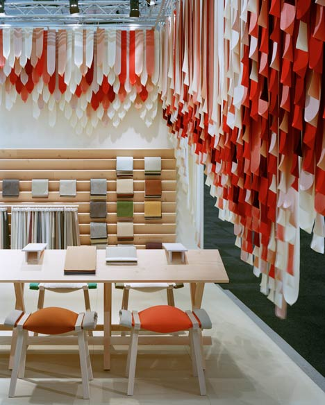 Exhibition Stand Textile : The picnic stand by raw edges for kvadrat sofiliumm